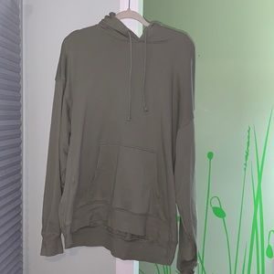 TNA AIRYAF seagrass green hoodie